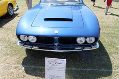 Rare Italian sportscar. Frontend rare 1969 Iso Grifo 7 litre coupe sports car at 2014 Boca Raton Concours. only 1 of 66 built Royalty Free Stock Photo