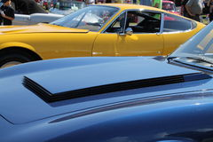 Rare Italian sportscar hood detail Royalty Free Stock Photography