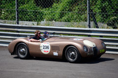 Rare Jaguar C-Type 1952 at the Mille Miglia Royalty Free Stock Photos