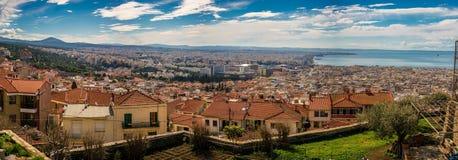 Rare Panoramic view of Thessaloniki city, Greece, High Resolutio Royalty Free Stock Photos