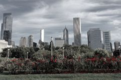 Chicago garden royalty free stock images