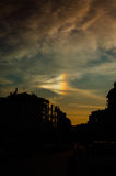 Rare Rainbow Cloud Phenomena Royalty Free Stock Images