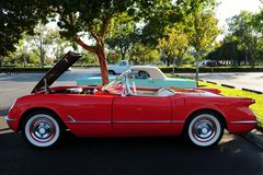 Rare red convertible sports car Royalty Free Stock Photo
