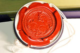 Rare Red wax seal Stock Image