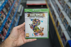 Rare replay videogame on XBOX One Stock Images