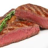 Rare Rib-Eye Steak Close-up stock photography