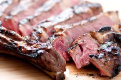 Rare rib steak Royalty Free Stock Photo