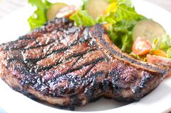 Rare rib steak Royalty Free Stock Images