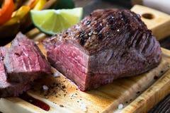 Rare roast beef sirloin Royalty Free Stock Photo