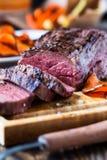 Rare roast beef sirloin Royalty Free Stock Photography