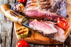 Rare roast beef Stock Image