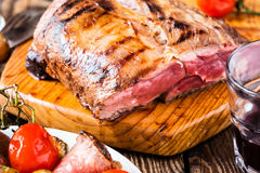 Rare roast beef Royalty Free Stock Photos
