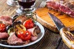 Rare roast beef Royalty Free Stock Photo