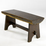 Rare rough hewn antique bench Royalty Free Stock Photos