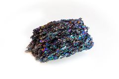 Rare Silicon Carbide Moissanite mineral stone isolated stock photos