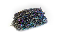 Rare Silicon Carbide Moissanite mineral stone isolated stock photography