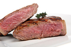 Rare Sirloin Steak Royalty Free Stock Images