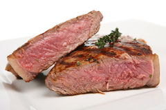 Rare Sirloin Steak Stock Image