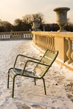 Rare snowy day in Paris Royalty Free Stock Images