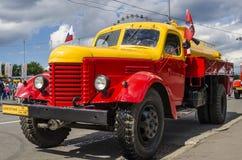 Rare Soviet Russian   gasoline tanker brand GAZ Royalty Free Stock Images
