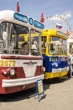 Rare Soviet Russian trolleybus 60's Stock Image
