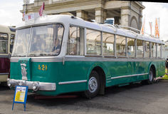 Rare Soviet Russian trolleybus 60's Royalty Free Stock Photo