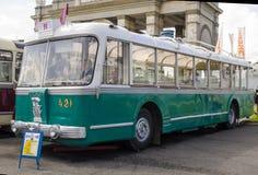 Rare Soviet Russian trolleybus 60's Royalty Free Stock Photo