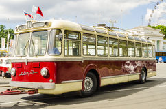 Rare Soviet Russian trolleybus 60's Royalty Free Stock Photography