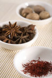 Rare spices in bowls 2 Royalty Free Stock Photos