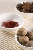 Rare spices in bowls 3 Royalty Free Stock Photo