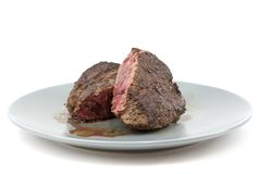 Rare steak Stock Images