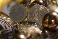 Rare stones and money Royalty Free Stock Photography