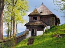 Rare UNESCO church in Lestiny, Slovakia royalty free stock photo