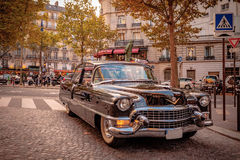 A rare unrestored 1956 Cadillac Eldorado Seville 2dr Coupe on the streest of Paris. Stock Photography