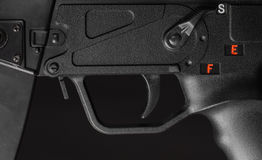 Rare version  of MP5 tactical weapon (detail) Royalty Free Stock Image