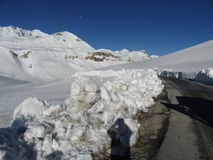 Rare view of  Himalayas. Stock Image