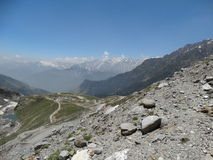 Rare view of  Himalayas. Royalty Free Stock Images