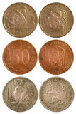 Rare vintage coins of czechoslovakia Royalty Free Stock Photo