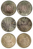 Rare vintage coins of germany Stock Photography