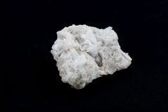 Rare white quartz crystals stone Stock Photo