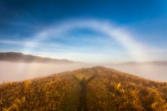 Rare-white rainbow. Royalty Free Stock Images