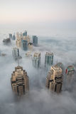 Rare winter morning fog in Dubai, UAE - 15/NOV/2016. Royalty Free Stock Photography