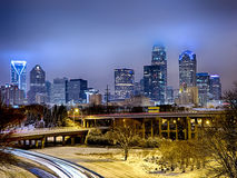 Rare winter weather in charlotte north carolina Stock Photos