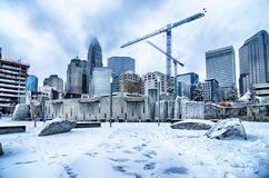 Rare winter weather in charlotte north carolina Stock Photo