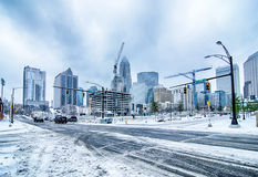 Rare winter weather in charlotte north carolina Stock Image