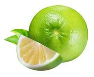 Raring grön grapefrukt som isoleras på vit bakgrund Royaltyfria Foton