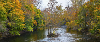 Raritan River Panorama Stock Image