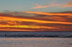 Rarotonga, ηλιοβασίλεμα νήσων Κουκ Στοκ φωτογραφία με δικαίωμα ελεύθερης χρήσης