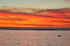 Rarotonga, ηλιοβασίλεμα νήσων Κουκ Στοκ φωτογραφίες με δικαίωμα ελεύθερης χρήσης