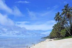 Rarotonga för landskapTitikaveka strand kock Islands Royaltyfri Bild